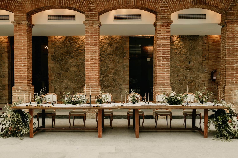 mesa nupcial boda barcelona
